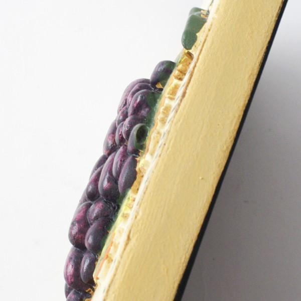 インテリア雑貨 オブジェ 壁掛け アート おしゃれインテリアプレート フルーツ グレープバイン|hana-kazaru|05