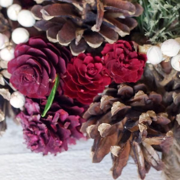 クリスマスリース レッドパインコーン リース 直径約25cm|hana-kazaru|02