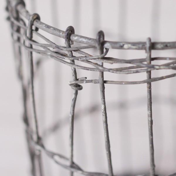 鉢カバー ワイヤーハンドルバスケット グレー|hana-kazaru|02