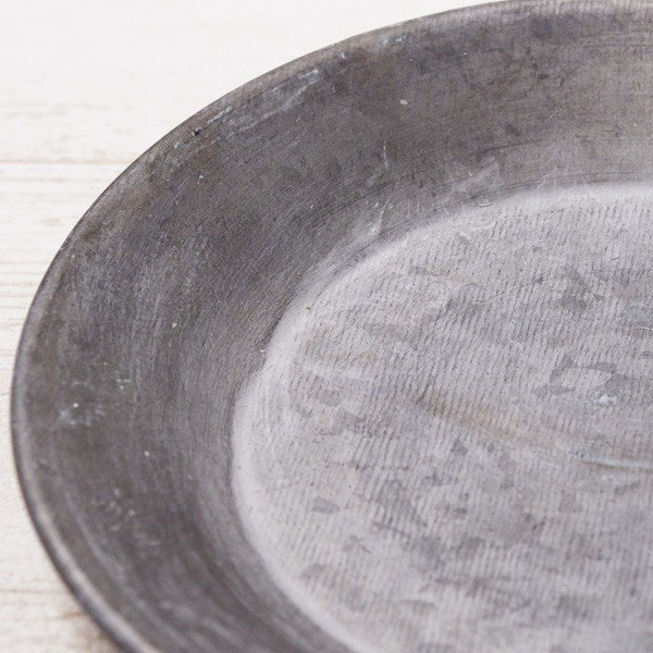 受け皿 おしゃれ 鉢受 ブリキ製シャビートレイ XSサイズ|hana-kazaru|02