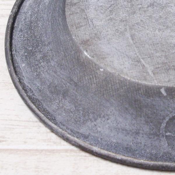 受け皿 おしゃれ 鉢受 ブリキ製シャビートレイ XSサイズ|hana-kazaru|03