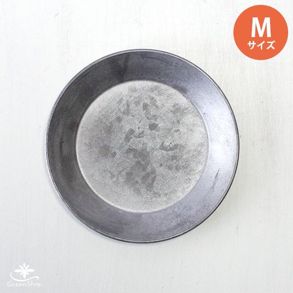 受け皿 おしゃれ 鉢受 ブリキ製シャビートレイ Mサイズ hana-kazaru