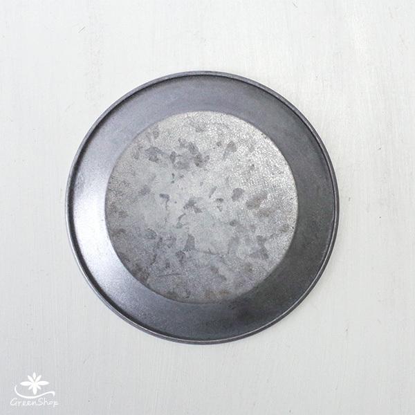 受け皿 おしゃれ 鉢受 ブリキ製シャビートレイ Mサイズ hana-kazaru 03