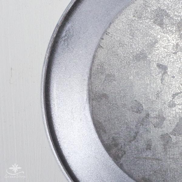 受け皿 おしゃれ 鉢受 ブリキ製シャビートレイ Mサイズ hana-kazaru 05