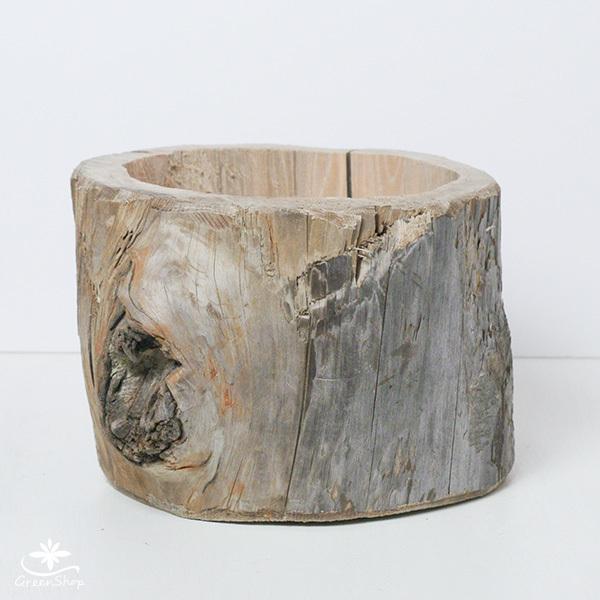 プランター おしゃれ 植木鉢 木製 流木フラワーポット 縦 BIG|hana-kazaru|02