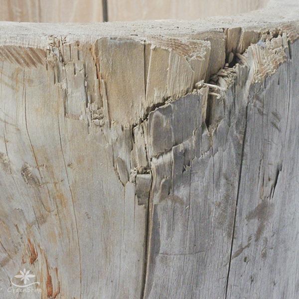 プランター おしゃれ 植木鉢 木製 流木フラワーポット 縦 BIG hana-kazaru 04