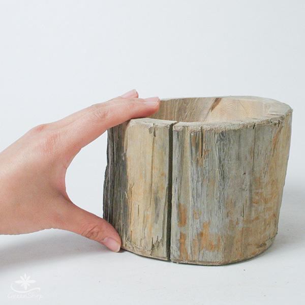 プランター おしゃれ 植木鉢 木製 流木フラワーポット 縦 BIG hana-kazaru 07
