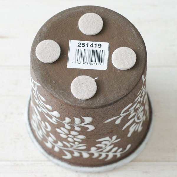 鉢カバー おしゃれ 陶器 フローラルパターン(底穴無し)|hana-kazaru|07