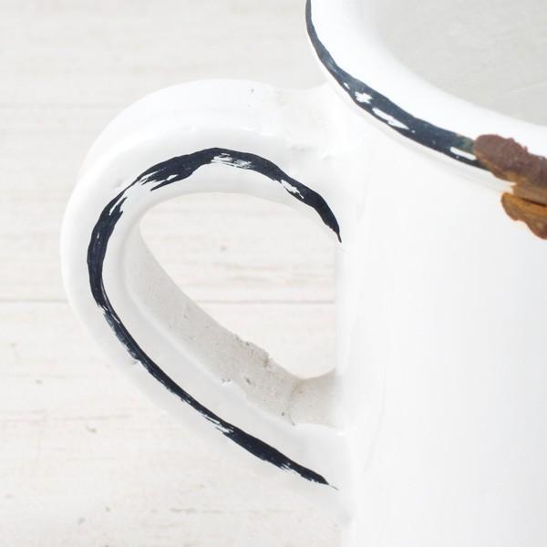 プランター おしゃれ 植木鉢 陶器 ホワイトマグポット 約4号|hana-kazaru|02