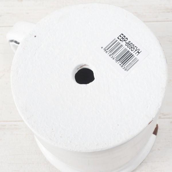 プランター おしゃれ 植木鉢 陶器 ホワイトマグポット 約4号|hana-kazaru|03