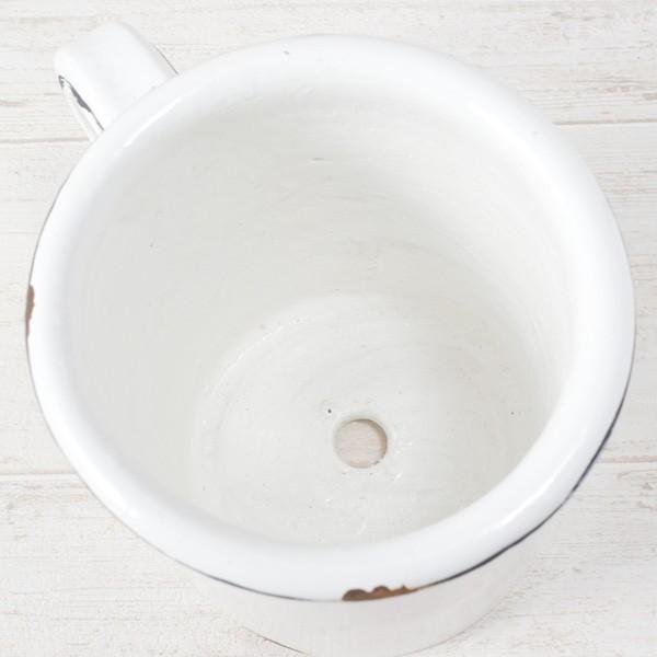プランター おしゃれ 植木鉢 陶器 ホワイトマグポット 約4号|hana-kazaru|04