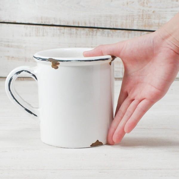 プランター おしゃれ 植木鉢 陶器 ホワイトマグポット 約4号|hana-kazaru|06
