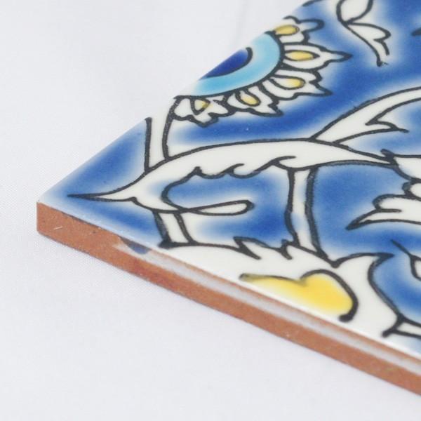 タイル おしゃれ 雑貨 デザインタイル チュニジアタイル BAGDAD 約20cm|hana-kazaru|02