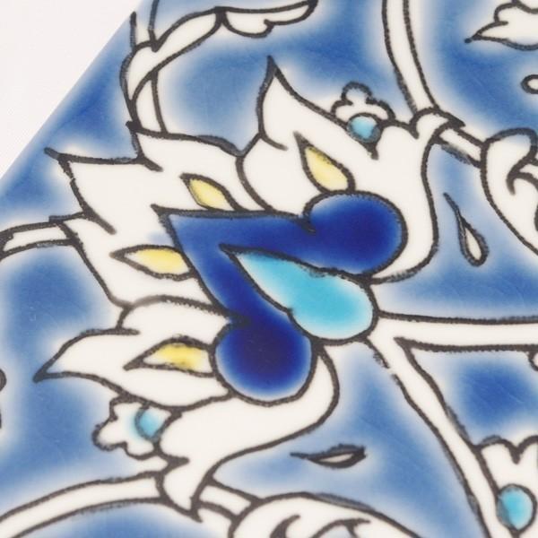 タイル おしゃれ 雑貨 デザインタイル チュニジアタイル BAGDAD 約20cm|hana-kazaru|03