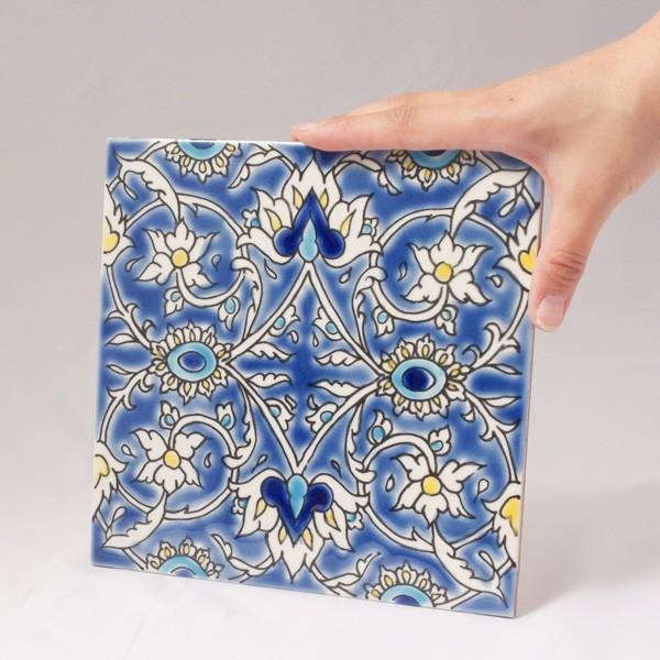 タイル おしゃれ 雑貨 デザインタイル チュニジアタイル BAGDAD 約20cm|hana-kazaru|06