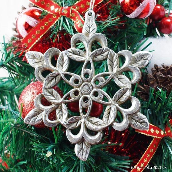 クリスマス 飾り オーナメント スノーフレーク 1個|hana-kazaru