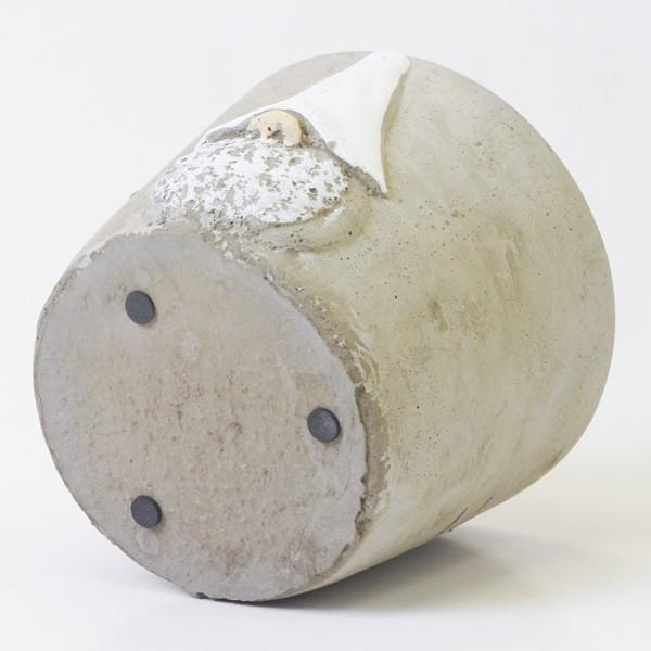 鉢カバー セメント製 こびとプランター Lサイズ|hana-kazaru|06