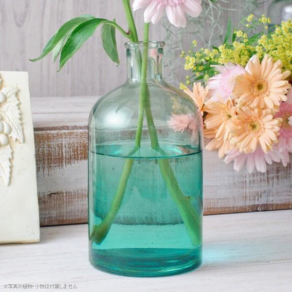 フラワーベース 花瓶 バレンシア・リサイクルガラスベース12 スカイ|hana-kazaru