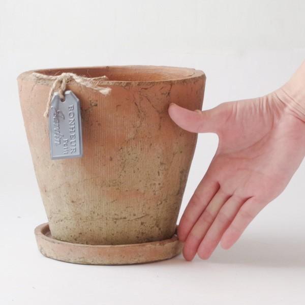 プランター おしゃれ 植木鉢 陶器 モッシーラウンドポット 約5.5号|hana-kazaru|08