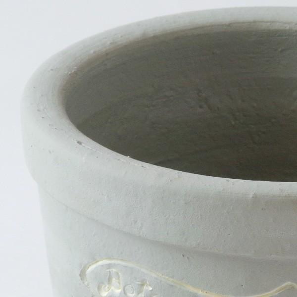 プランター おしゃれ 植木鉢 陶器 ファーネグレーポット 約4.5号|hana-kazaru|02