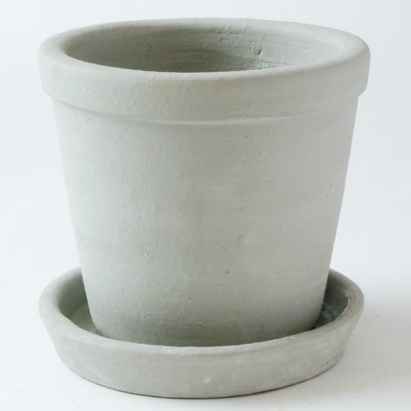 プランター おしゃれ 植木鉢 陶器 ファーネグレーポット 約4.5号|hana-kazaru|04