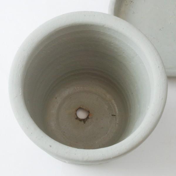 プランター おしゃれ 植木鉢 陶器 ファーネグレーポット 約4.5号|hana-kazaru|06
