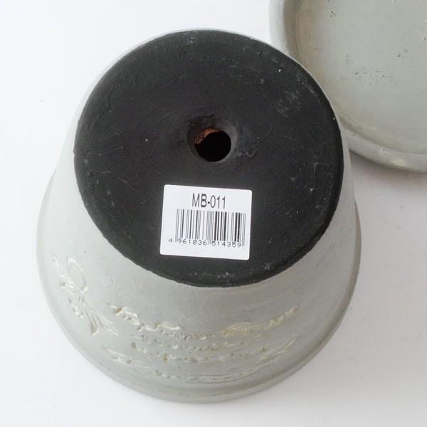 プランター おしゃれ 植木鉢 陶器 ファーネグレーポット 約4.5号|hana-kazaru|07