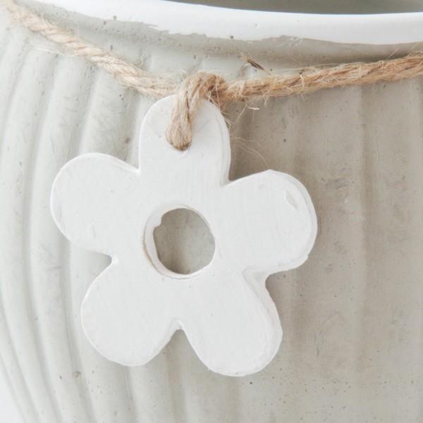 プランター おしゃれ 植木鉢 セメント製 フラワーメダルポット 約4号変形|hana-kazaru|03