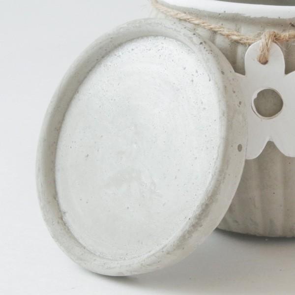 プランター おしゃれ 植木鉢 セメント製 フラワーメダルポット 約4号変形|hana-kazaru|05