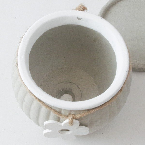 プランター おしゃれ 植木鉢 セメント製 フラワーメダルポット 約4号変形|hana-kazaru|06