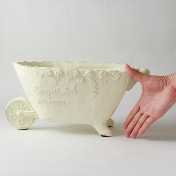 プランター おしゃれ 植木鉢 グラスファイバー製 ローズスプレンディドカート|hana-kazaru|08
