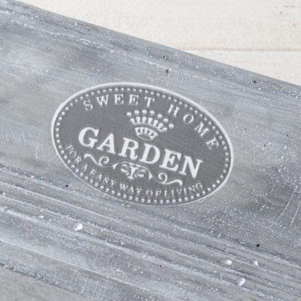 プランター おしゃれ 植木鉢 セメント鉢 スイートホームガーデンレクトポット 約W20.5×D11.5×H9.5cm|hana-kazaru|02