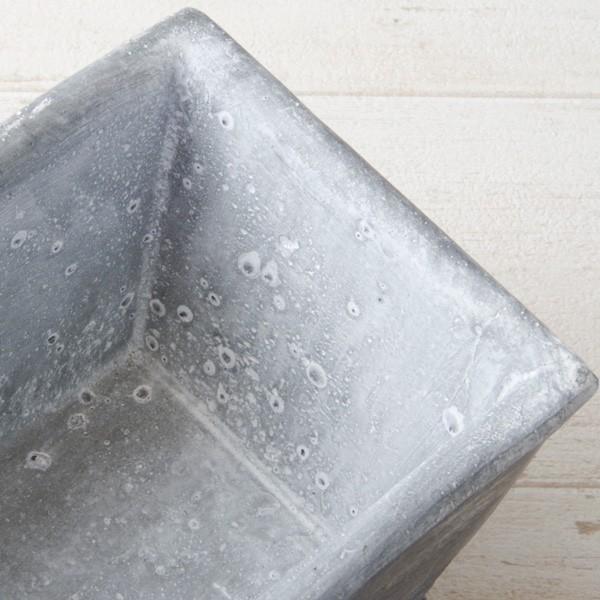 プランター おしゃれ 植木鉢 セメント鉢 スイートホームガーデンレクトポット 約W20.5×D11.5×H9.5cm|hana-kazaru|05