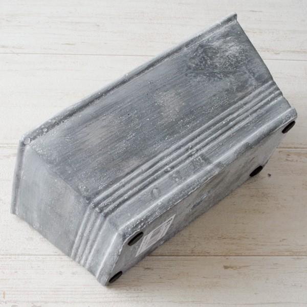 プランター おしゃれ 植木鉢 セメント鉢 スイートホームガーデンレクトポット 約W20.5×D11.5×H9.5cm|hana-kazaru|06