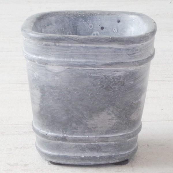 プランター おしゃれ 植木鉢 セメント鉢 スイートホームガーデンミニポット 約W8×D8×H8.5cm|hana-kazaru|04