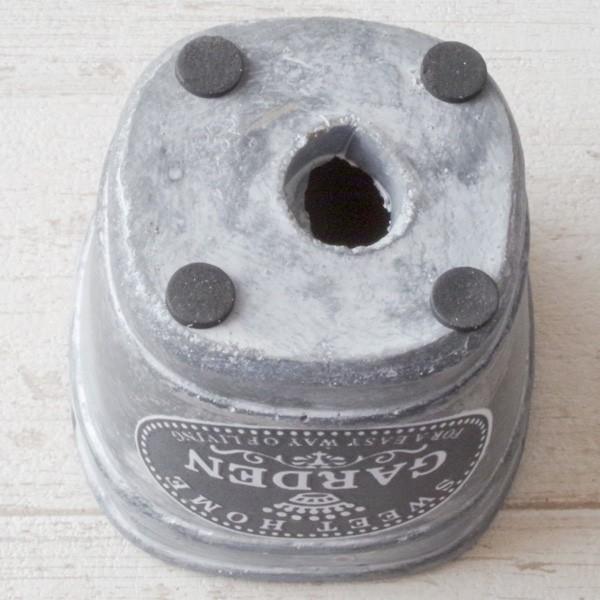 プランター おしゃれ 植木鉢 セメント鉢 スイートホームガーデンミニポット 約W8×D8×H8.5cm|hana-kazaru|06