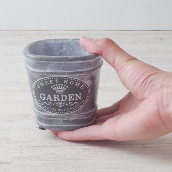 プランター おしゃれ 植木鉢 セメント鉢 スイートホームガーデンミニポット 約W8×D8×H8.5cm|hana-kazaru|07