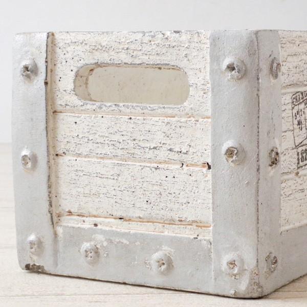 プランター おしゃれ 植木鉢 セメント鉢 フルールレクトポット 約W21×D11.5×H10cm hana-kazaru 04