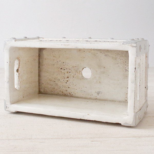 プランター おしゃれ 植木鉢 セメント鉢 フルールレクトポット 約W21×D11.5×H10cm hana-kazaru 06