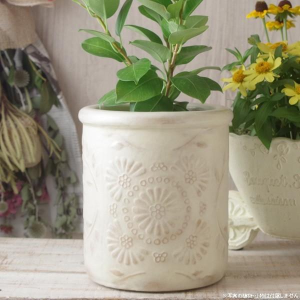 プランター おしゃれ 植木鉢 陶器 クリステンポット 約6号|hana-kazaru