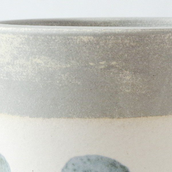 プランター おしゃれ 植木鉢 信楽焼 パロットポット水玉 白 約3号|hana-kazaru|02