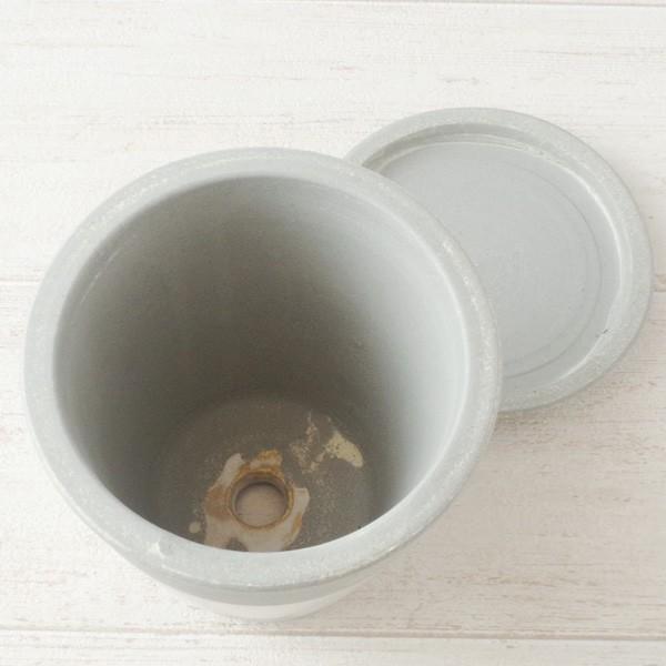 プランター おしゃれ 植木鉢 信楽焼 パロットポット水玉 白 約3号|hana-kazaru|04