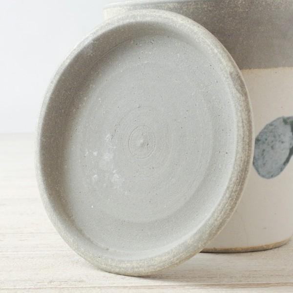 プランター おしゃれ 植木鉢 信楽焼 パロットポット水玉 白 約3号|hana-kazaru|06