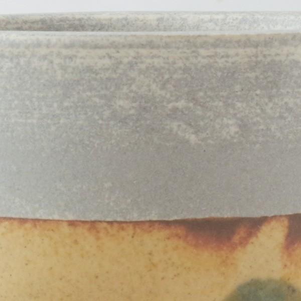 プランター おしゃれ 植木鉢 信楽焼 パロットポット水玉 黄 約3号|hana-kazaru|02