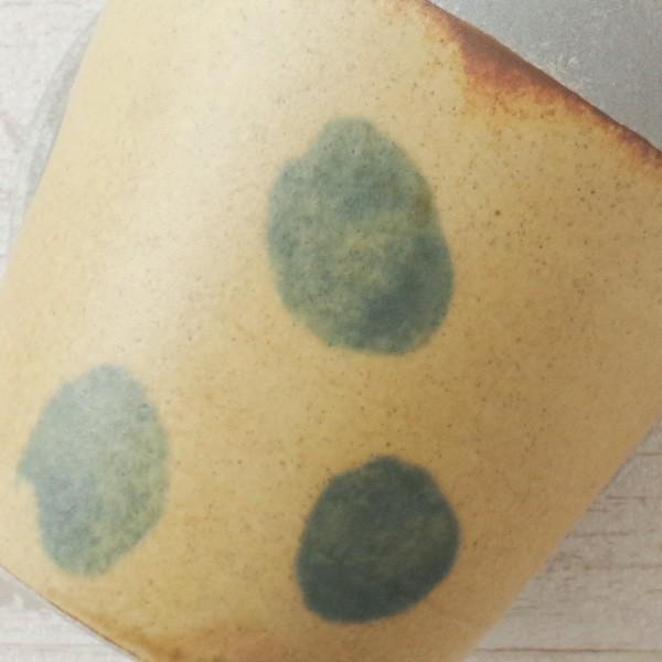 プランター おしゃれ 植木鉢 信楽焼 パロットポット水玉 黄 約3号|hana-kazaru|03
