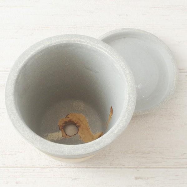 プランター おしゃれ 植木鉢 信楽焼 パロットポット水玉 黄 約3号|hana-kazaru|04
