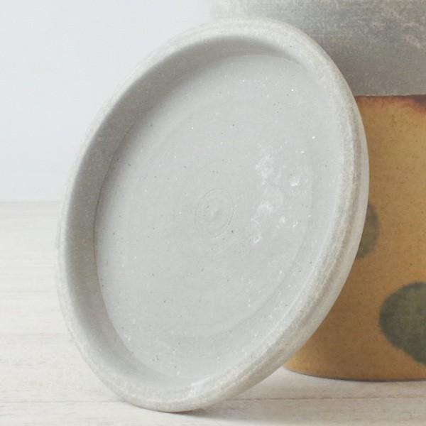 プランター おしゃれ 植木鉢 信楽焼 パロットポット水玉 黄 約3号|hana-kazaru|06