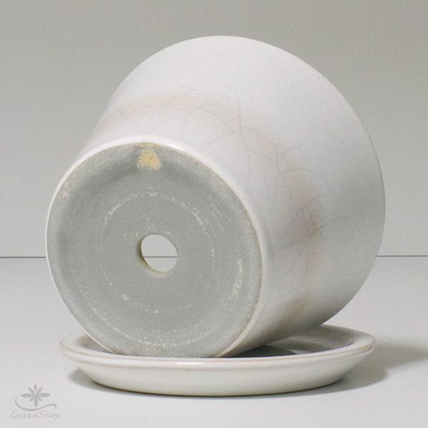 プランター おしゃれ 植木鉢 信楽焼 ルフトミドル 白 約5号|hana-kazaru|06