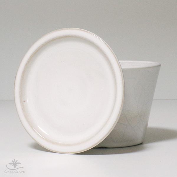 プランター おしゃれ 植木鉢 信楽焼 ルフトミドル 白 約5号|hana-kazaru|07