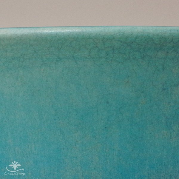 プランター おしゃれ 植木鉢 信楽焼 ルフトミドル ターコイズブルー 約5号|hana-kazaru|03